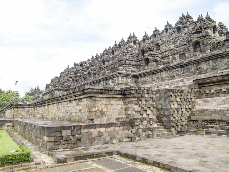 Borobudur in Java fotografie stock libere da diritti