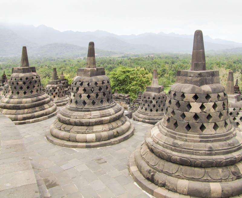 Borobudur in Java immagini stock