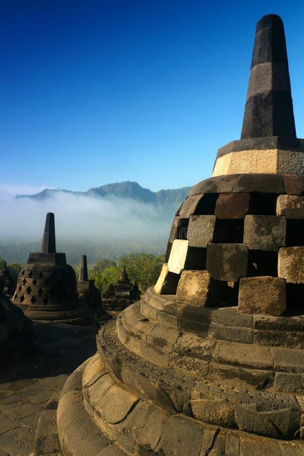 Borobudur, Java central, Indonésie images libres de droits