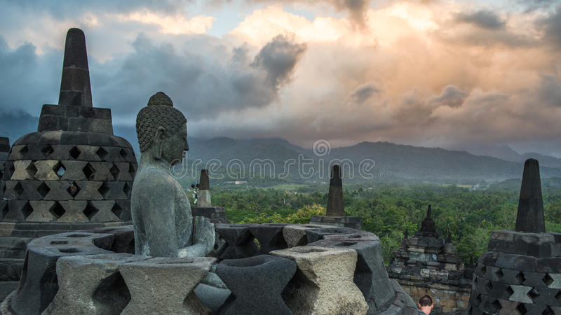 Borobudur, Java, Indonésie images libres de droits