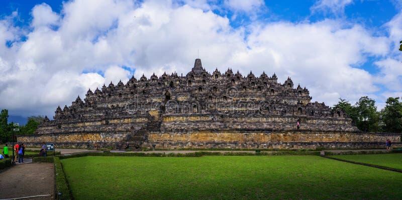 Borobudur, Java, Indonesia. The beautiful scenery in Borobudur, Yogyakarta stock images