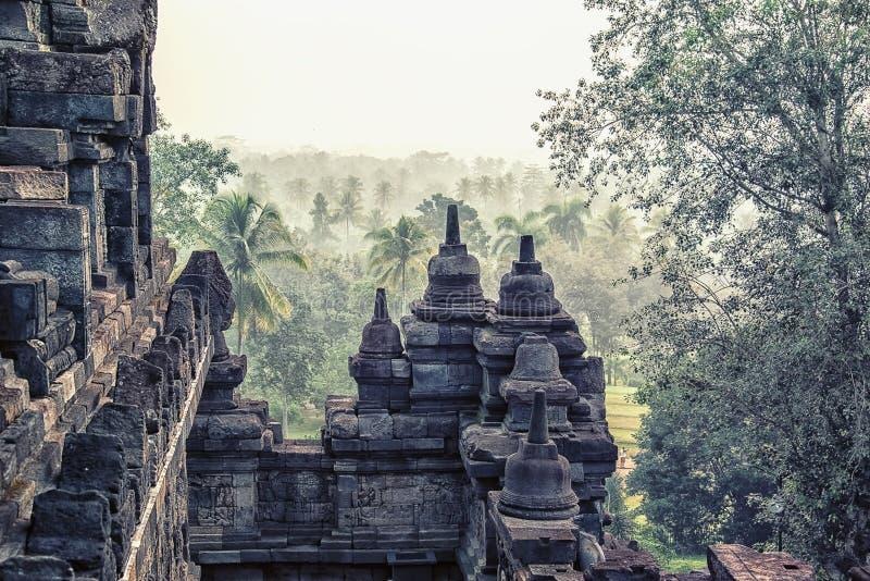 Borobudur kompleks w środkowym Jawa, Indonezja zdjęcia royalty free