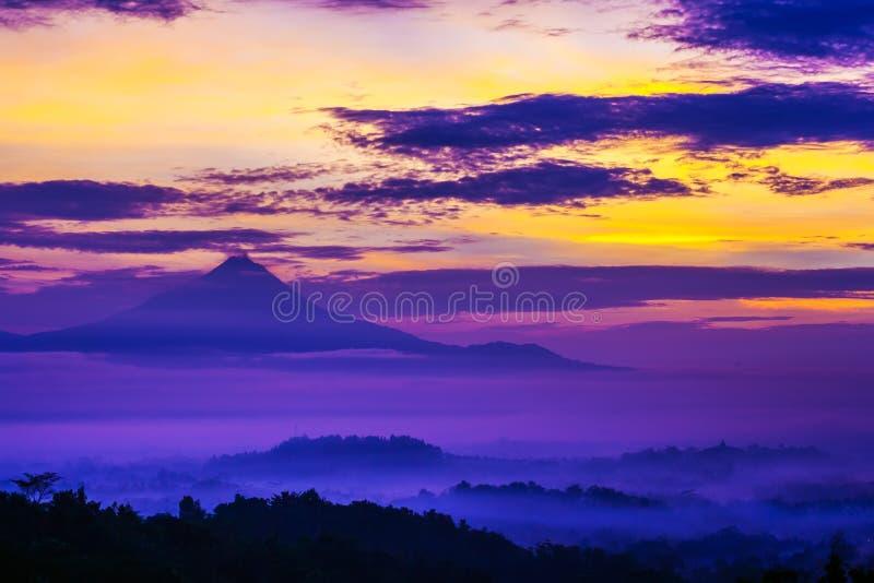 Borobudur, Magelang, Java centrale, Indonesia immagine stock