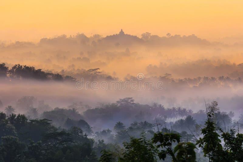Borobudur, Magelang, Java centrale, Indonesia immagini stock libere da diritti