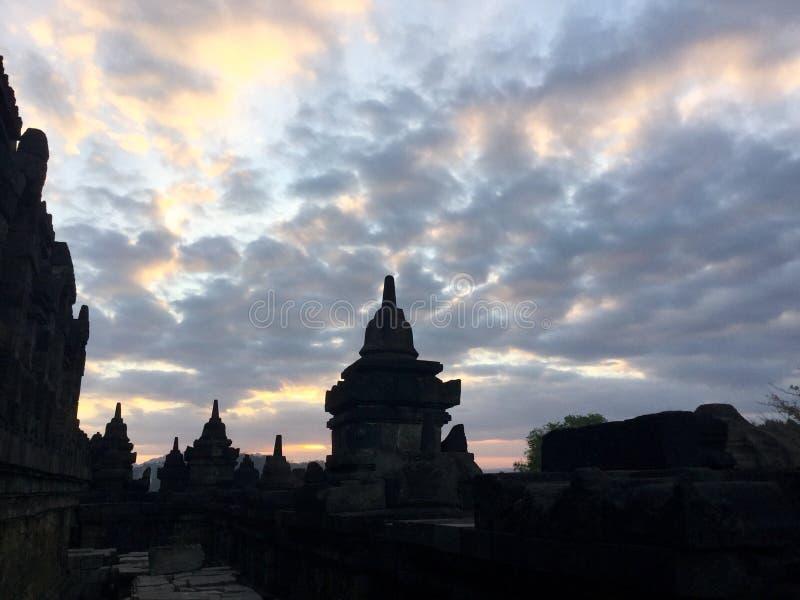 Borobudur monumentale Tempiale buddista fotografie stock libere da diritti