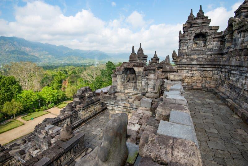Borobudur, o grande templo budista - Java central, Indonésia fotografia de stock royalty free