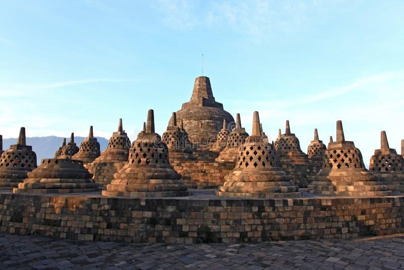 borobudur ruiny stupy świątynia zdjęcia stock