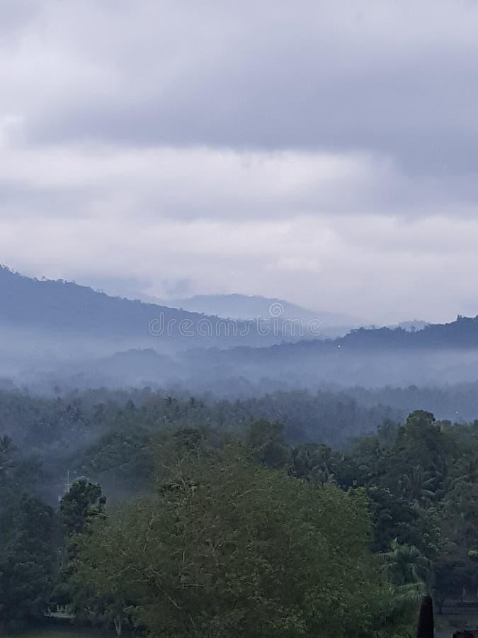Borobudur& x27; s安静 免版税库存图片