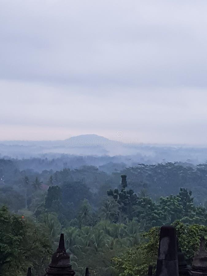 Borobudur& x27; s安静 免版税库存照片