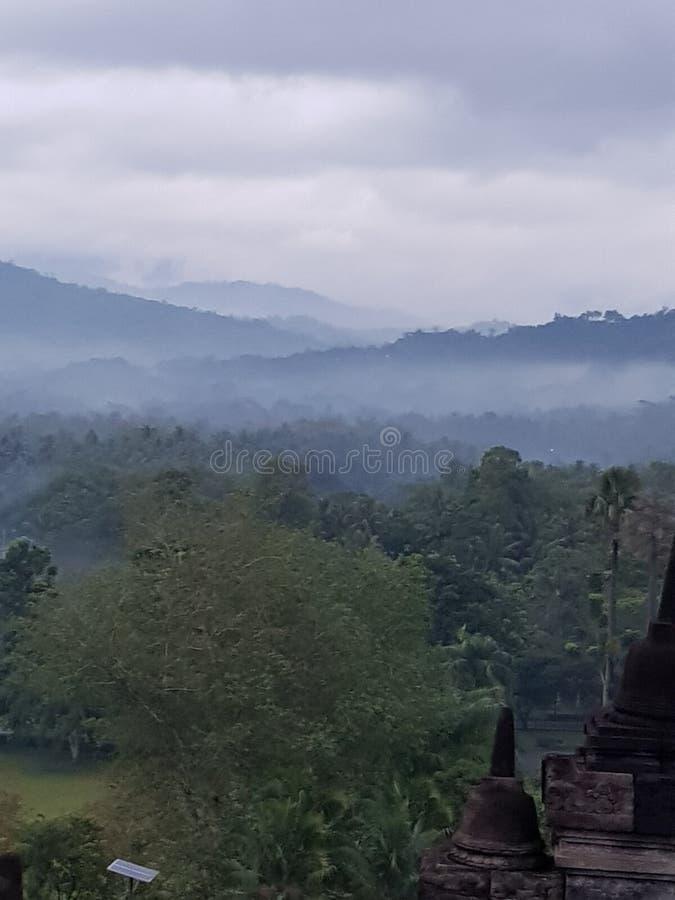 Borobudur& x27; s安静 免版税图库摄影