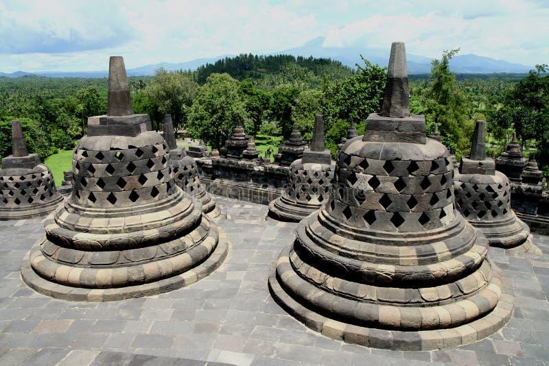 Borobudur. Stone statues in Borobudur Indonesia royalty free stock image