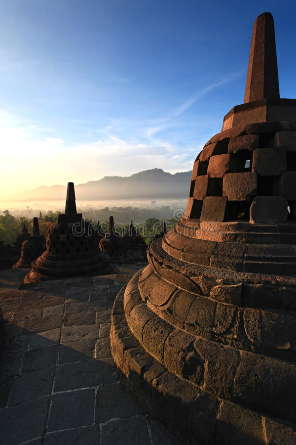 borobudur stupa寺庙 库存照片