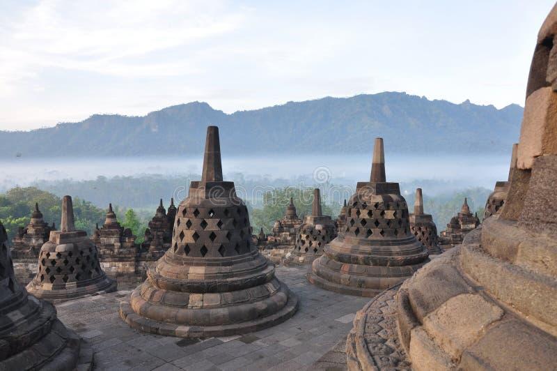 borobudur stupa 免版税库存照片