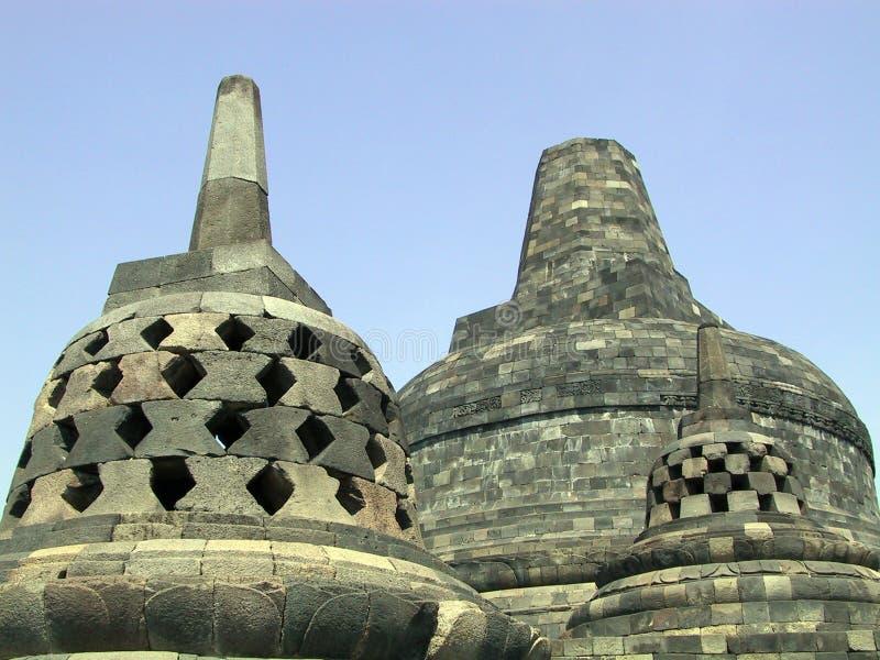 borobudur stupa fotografia stock