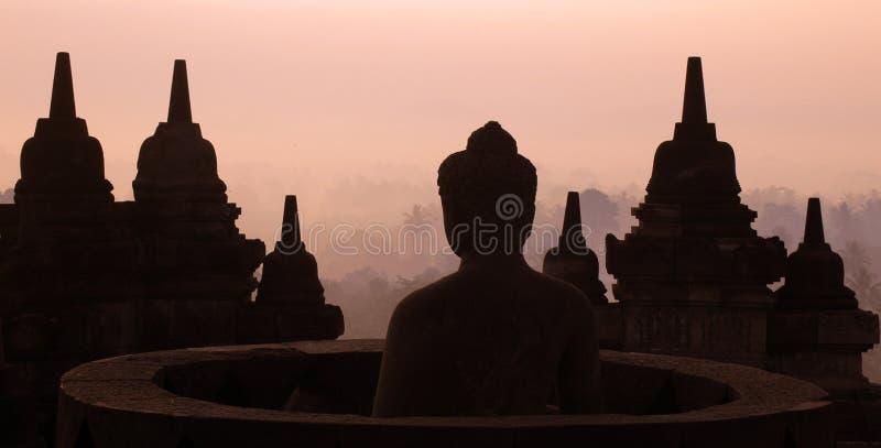 Borobudur stupa zdjęcie royalty free