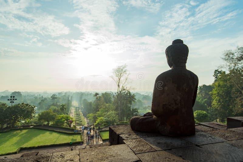 Borobudur su Java immagini stock
