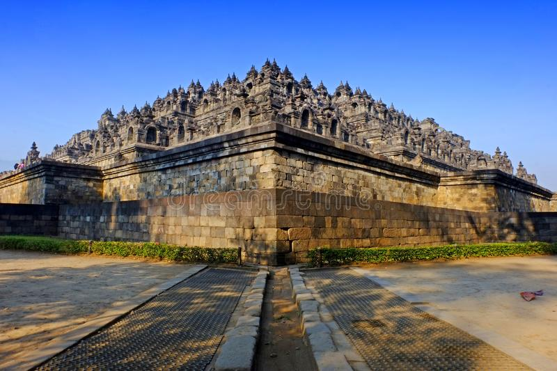 Borobudur tample. Is Built in the 9th century during the reign of the Sailendra Dynasty, the temple design follows Javanese Buddhist architecture, which blends stock photography