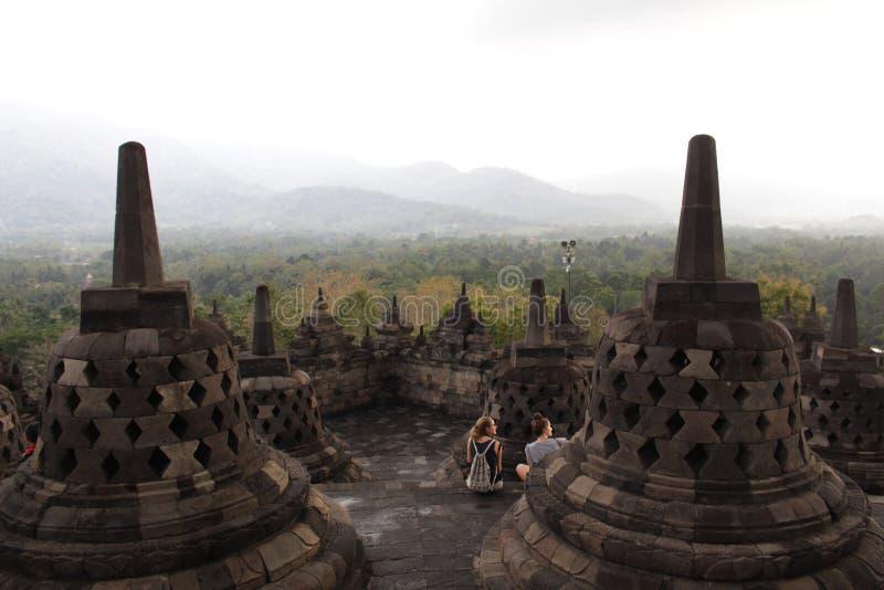 Borobudur Tempel lizenzfreie stockfotos