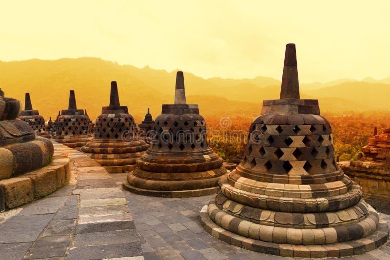 Borobudur tempel royaltyfri fotografi
