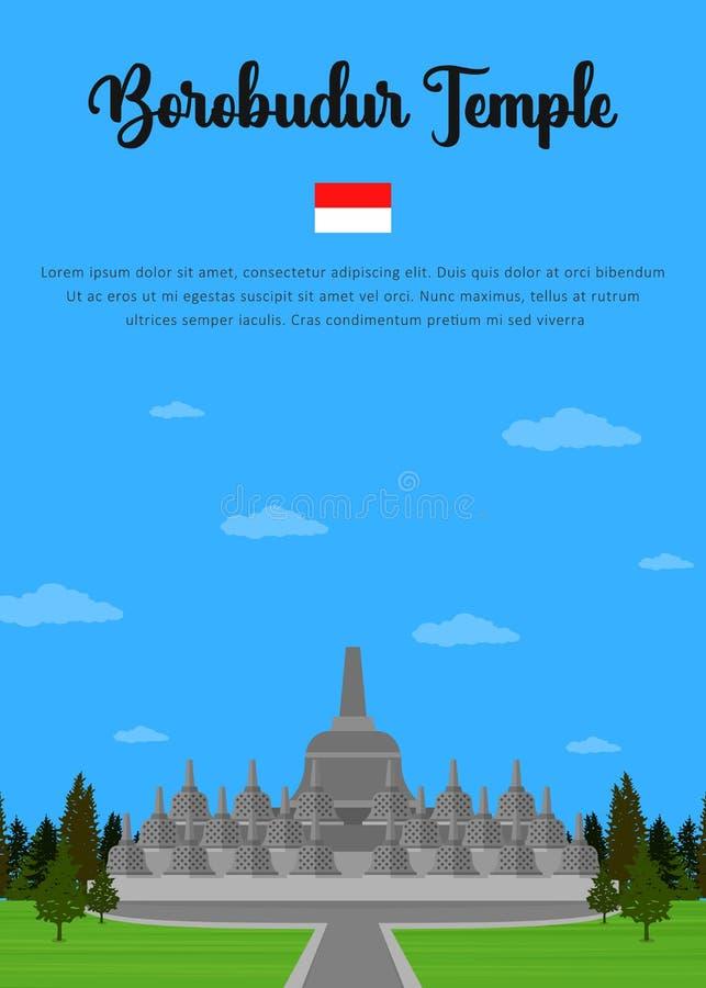 Borobudur-Tempel auf Indonesisch vektor abbildung