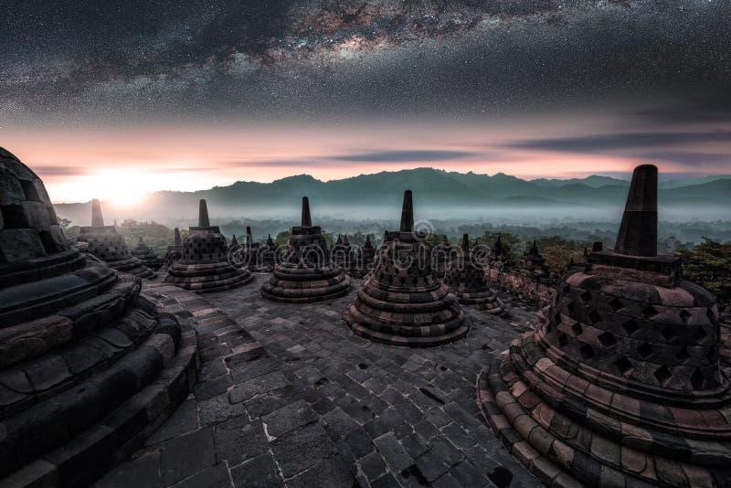 Borobudur-Tempel in Java stockbilder