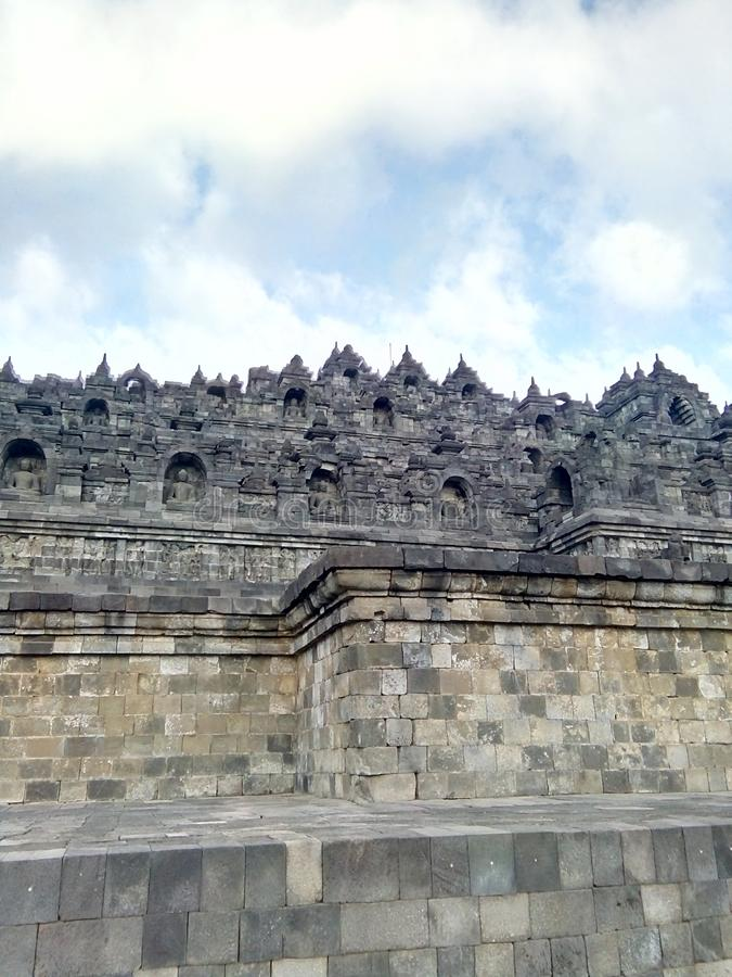 Borobudur Tempel in Magelang, Central Java, Indonesien lizenzfreie stockfotos