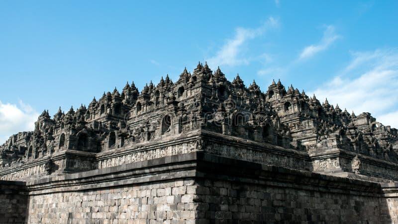 Borobudur-Tempelkomplex auf der Insel von Java in Indonesien stockbilder
