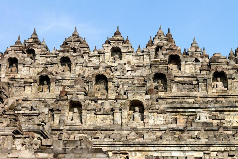 Borobudur Tempelmittel, Java, Indonesien stockfotos