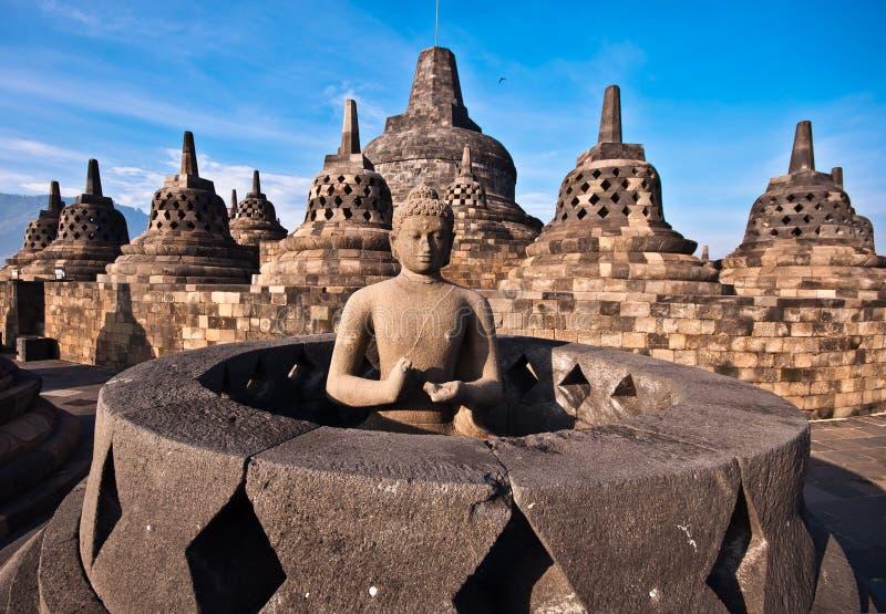 Borobudur temple. Near Yogyakarta on Java island, Indonesia royalty free stock photography