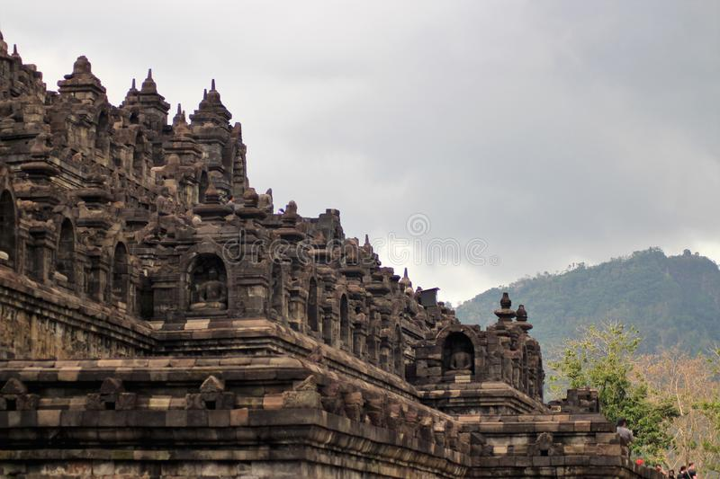 Borobudur temple, Candi Borobudur. Borobudur temple is one of the wonders of the world in the Yogyakarta - Indonesia region, this place is the destination of stock photography