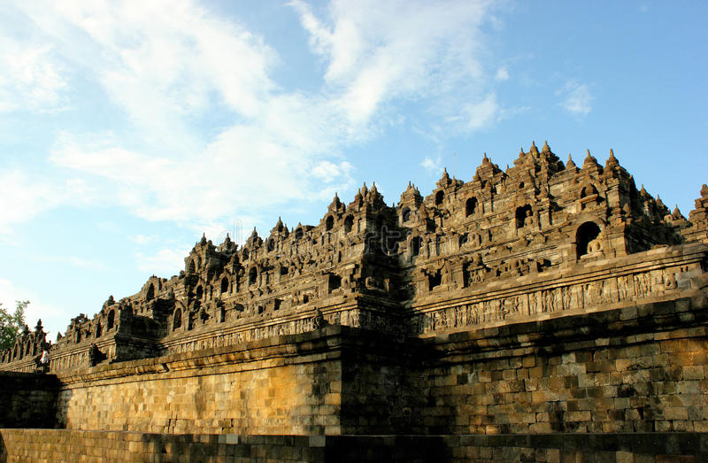 Borobudur Temple. In Central Java, Indonesia royalty free stock photo