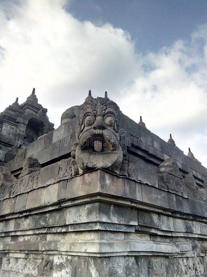 Borobudur temple in Magelang, Central Java, Indonesia. A variety of uniqueness in the Borobudur temple in Magelang, Central Java, Indonesia royalty free stock photo