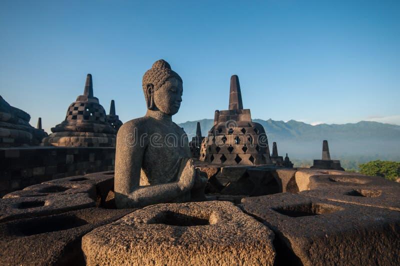 Borobudur Temple. At morning, Yogyakarta, Java, Indonesia stock image