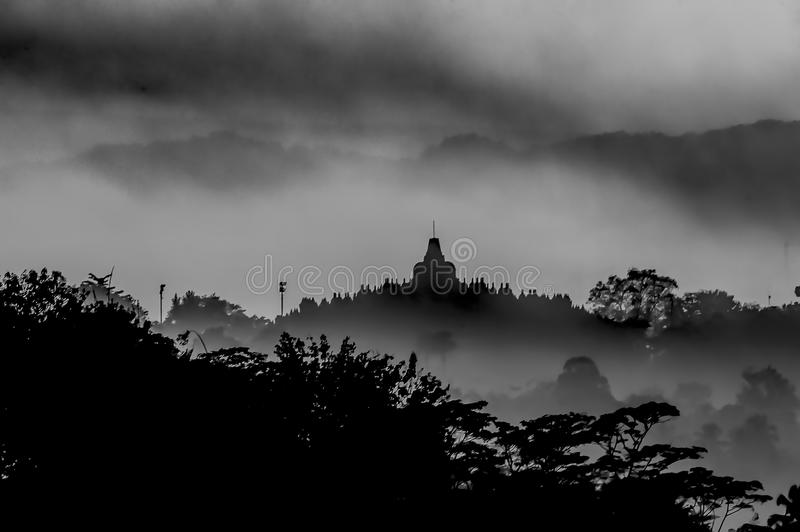 Borobudur Temple Silhouette stock images