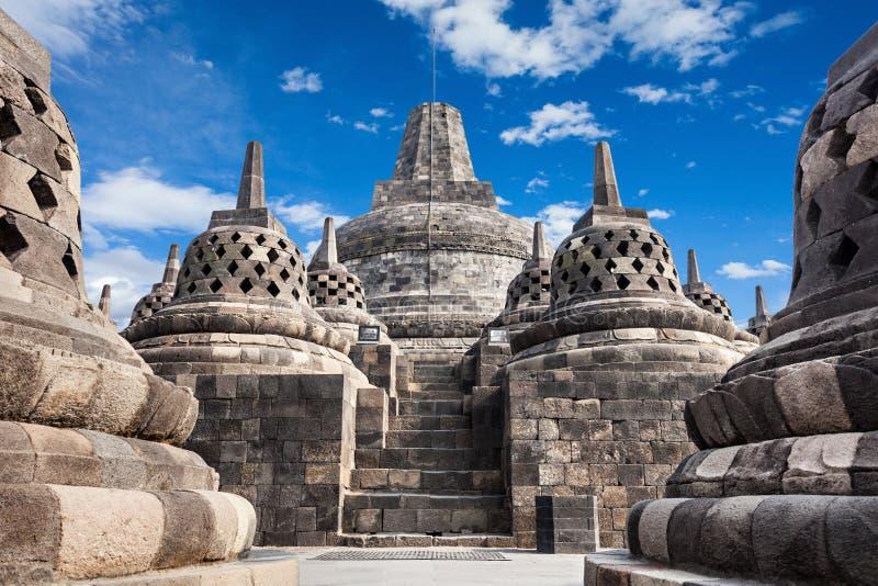 Borobudur Temple. Stupas in Borobudur Temple, Central Java, Indonesia stock photos