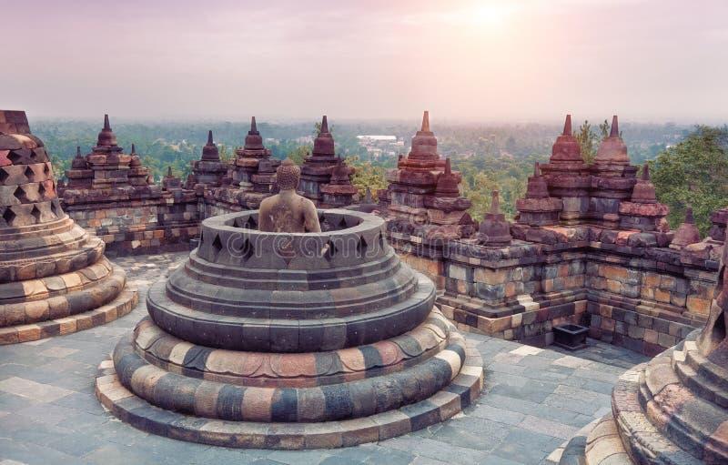 Borobudur Temple. At sunrise.Java.Indonesia stock photos