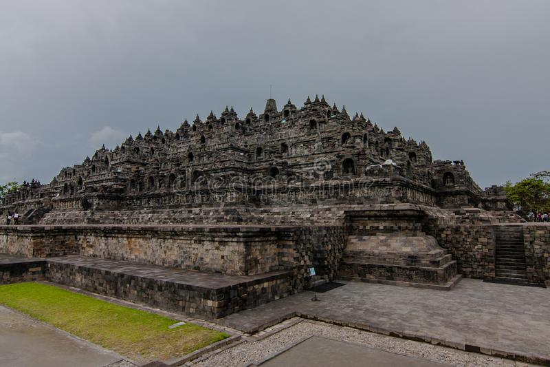 Borobudur Temple, Yogyakarta, Indonesien arkivbild