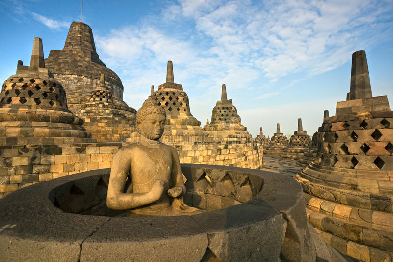 Borobudur Temple, Yogyakarta, Java, Indonesia. royalty free stock photography