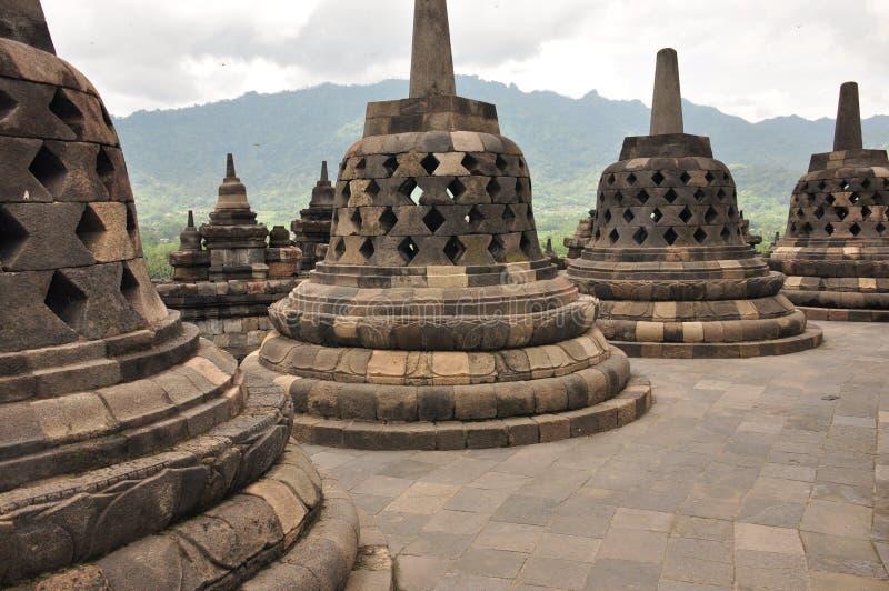 Borobudur, un temple bouddhiste à Yogyakarta s'est inscrit sur l'UNESCO photo stock