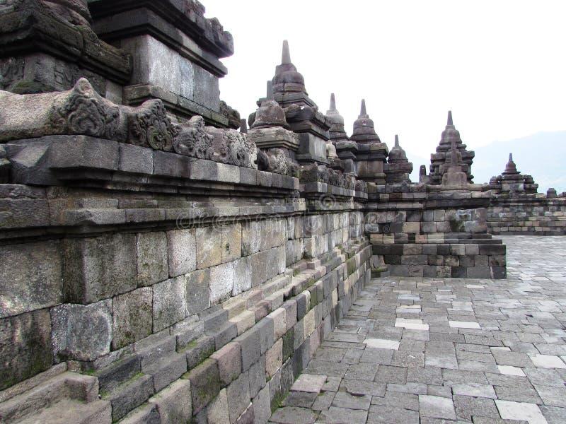 Borobudur - vista superiore fotografia stock libera da diritti