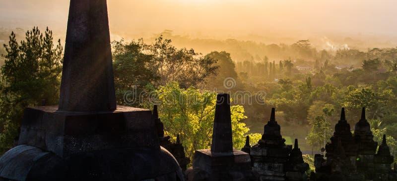 Borobudur, Yogyakarta, Java, Indonesië stock fotografie
