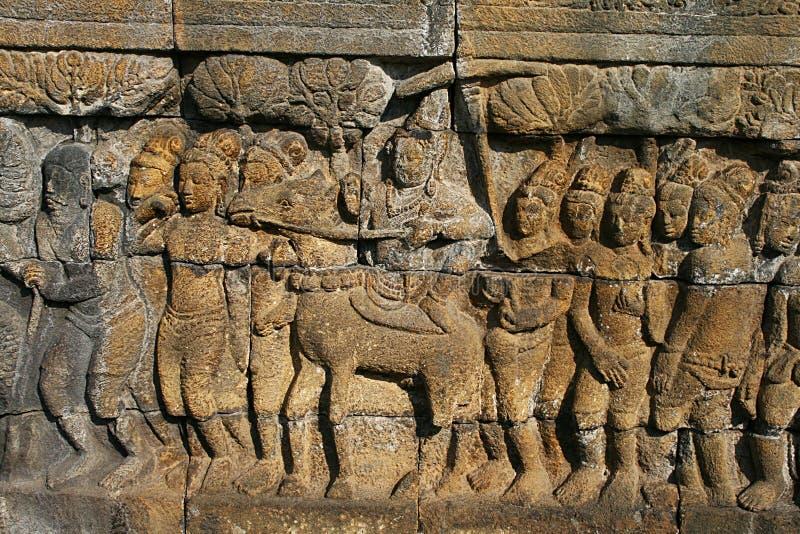 Borobudurhulp royalty-vrije stock fotografie