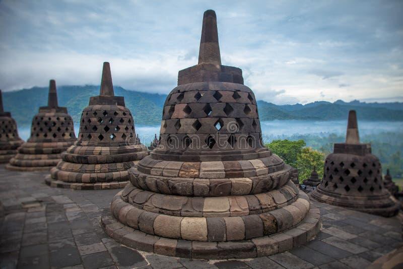 borobudurindonesia tempel royaltyfri fotografi