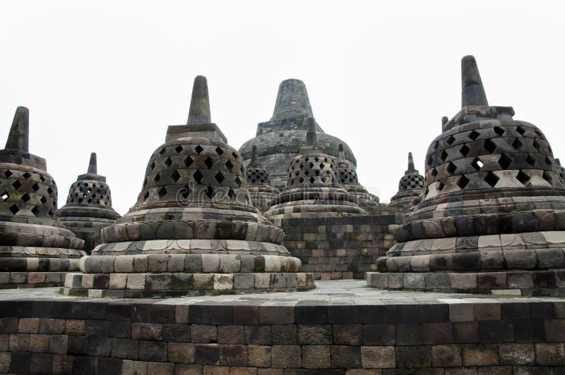 Borobudurtempel - Jogjakarta - Indonesië stock foto's