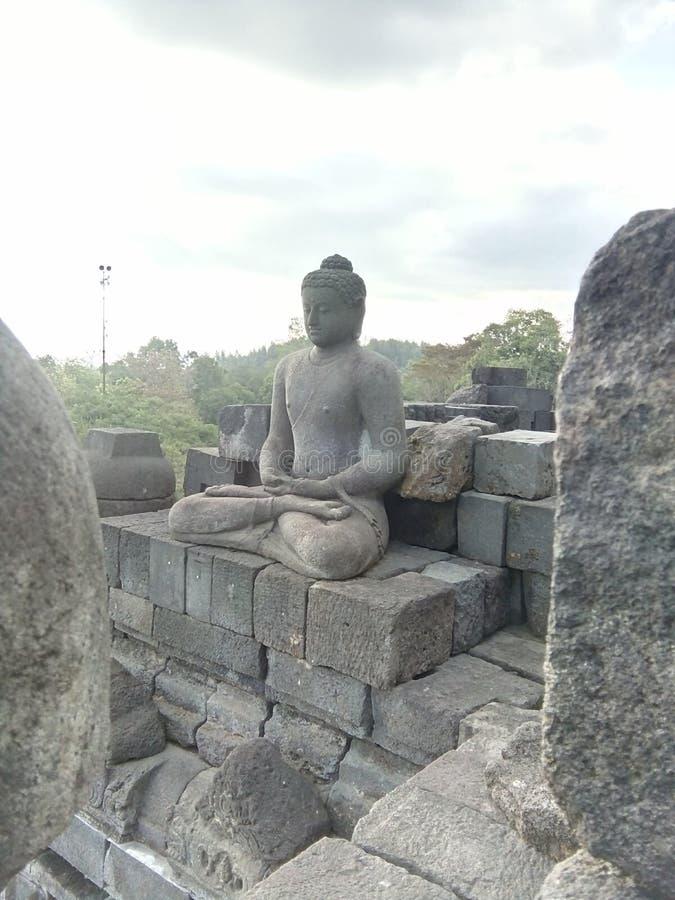 Borobudurtempel in Magelang, Centraal Java, Indonesi? royalty-vrije stock afbeelding