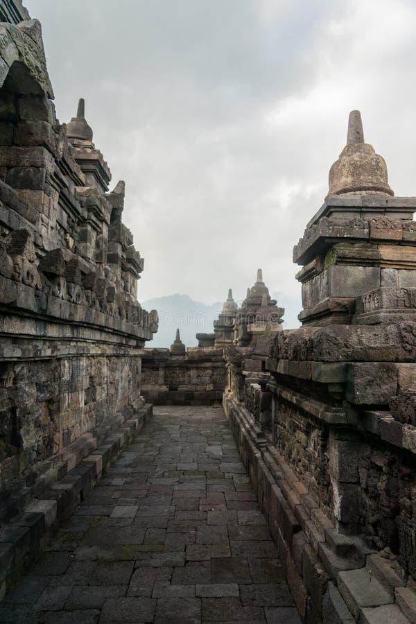 Borobudurtempel in Yogyakarta, Java, Indonesië royalty-vrije stock fotografie