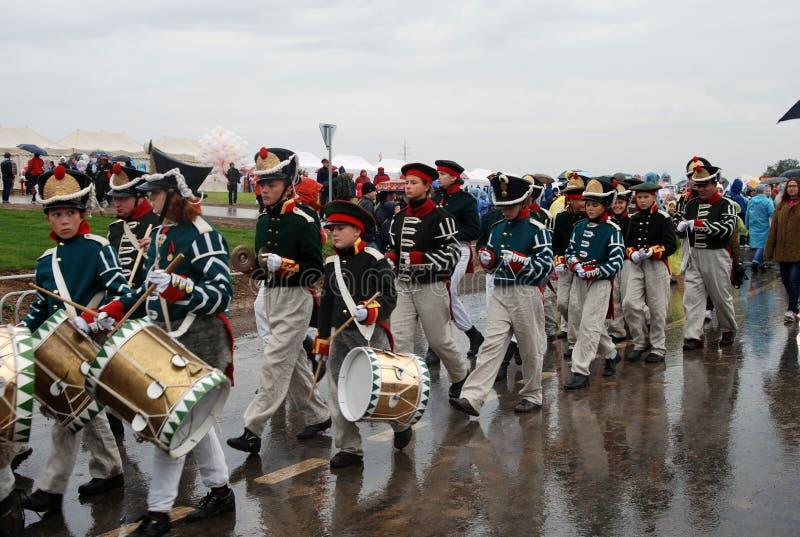 Borodino 2012 historical reenactment stock images