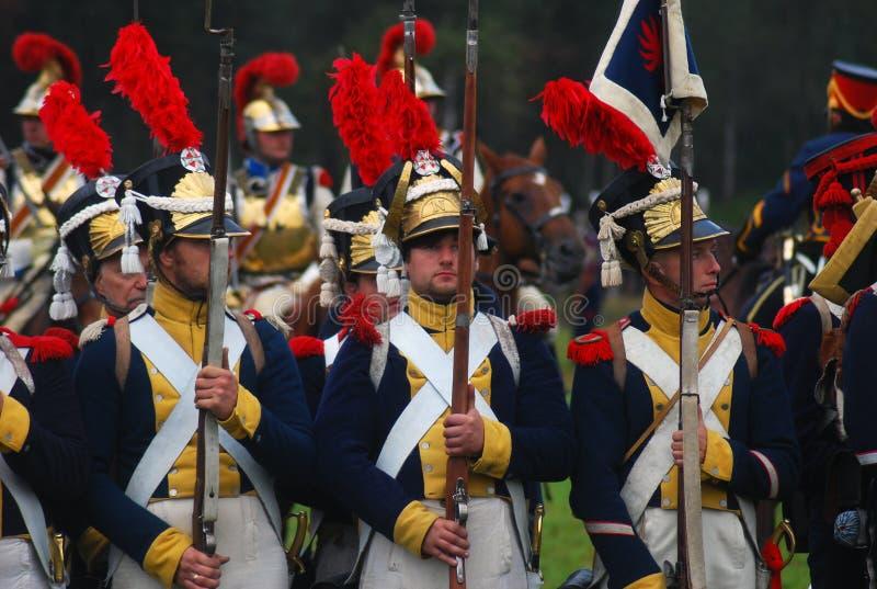 Borodino 2012 historical reenactment stock photography