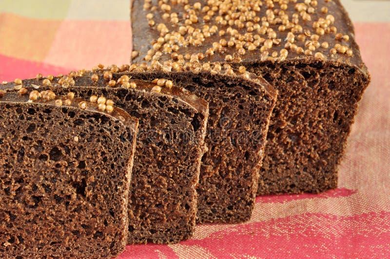 Borodinsky rye bread. stock photos