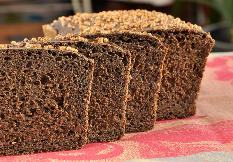 Borodinsky rye bread. stock photography